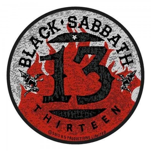 BLACK SABBATH - Thirteen Flames Patch Aufnäher