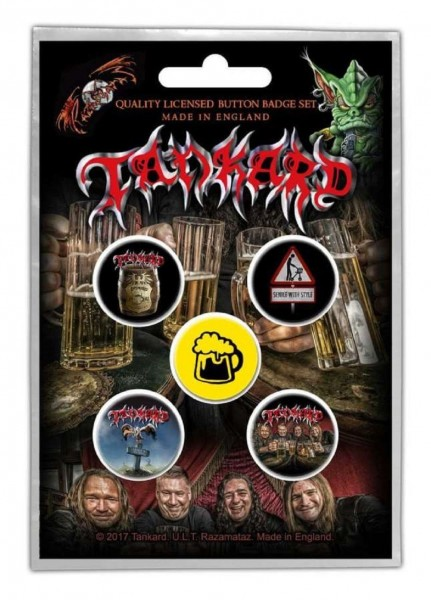 TANKARD - One Foot In The Grave Button-Set Badge Pack