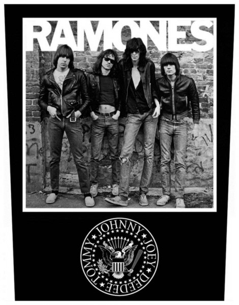 THE RAMONES - 1976 Band Backpatch Rückenaufnäher