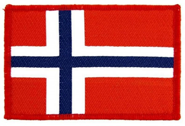 NORWAY - Norwegen Flagge Flag Patch Aufnäher