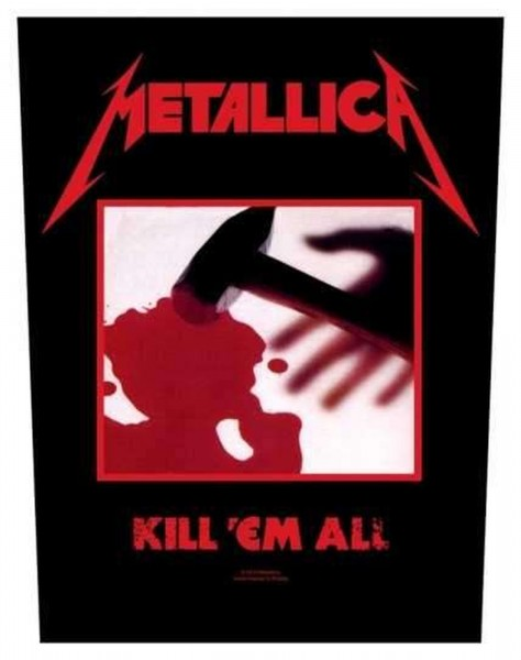 METALLICA - Kill´em all Backpatch Rückenaufnäher