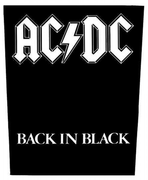 AC/DC - Back in Black Backpatch Rückenaufnäher