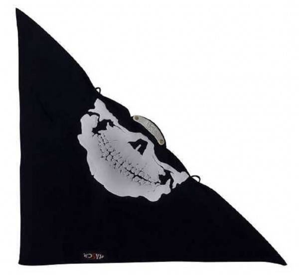 BIKERTUCH - Maske Gesichtsmaske White Skull