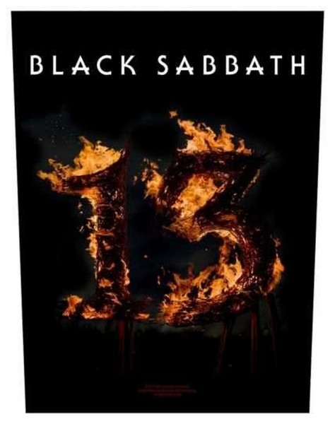 BLACK SABBATH - 13 Backpatch Rückenaufnäher