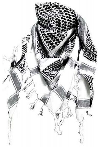 PLO Tuch Palästinensertuch - weiss schwarz