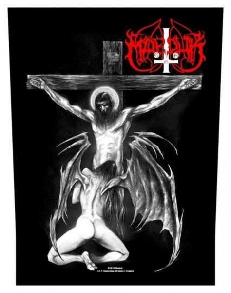 MARDUK - Christ Raping Black Metal Backpatch Rückenaufnäher