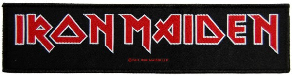 IRON MAIDEN - Logo Patch Aufnäher Superstrip