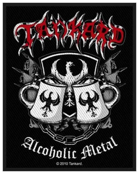 TANKARD - Alcoholic Metal Patch Aufnäher