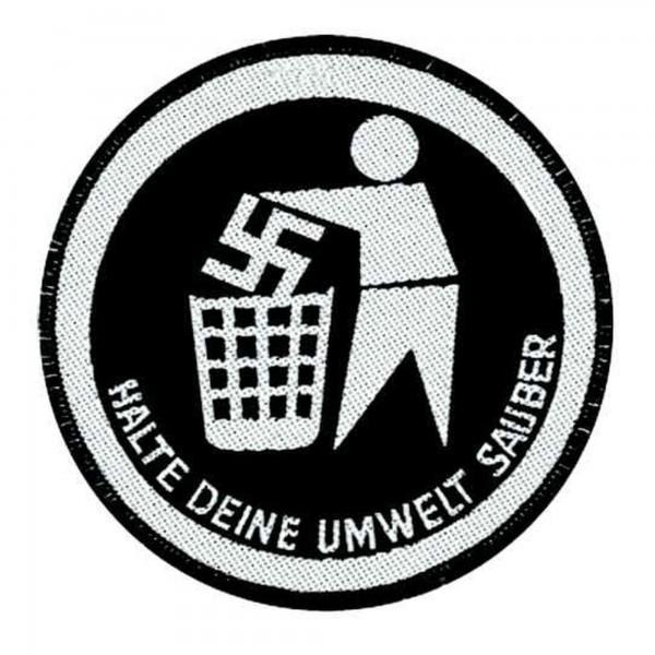 GEGEN NAZIS - Umwelt sauber Patch Aufnäher