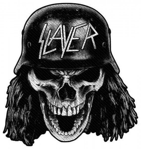 SLAYER - Wehrmacht Skull cut Patch Aufnäher