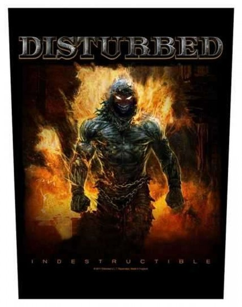 DISTURBED - Indestructible Backpatch Rückenaufnäher