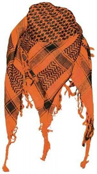 PLO Tuch Palästinensertuch - orange schwarz