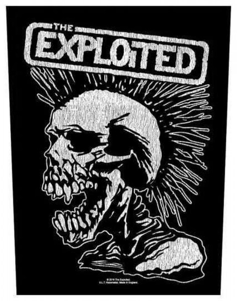 THE EXPLOITED - Vintage Skull Backpatch Rückenaufnäher