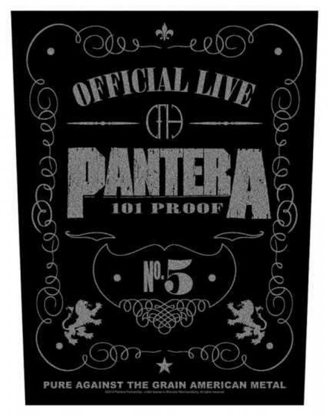 PANTERA - 101% Proof Backpatch Rückenaufnäher