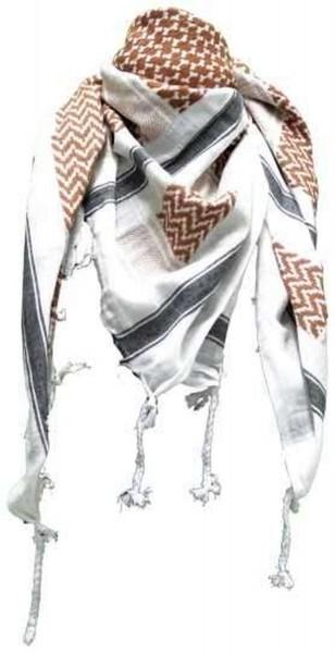 PLO Tuch Palästinensertuch - weiss braun schwarz