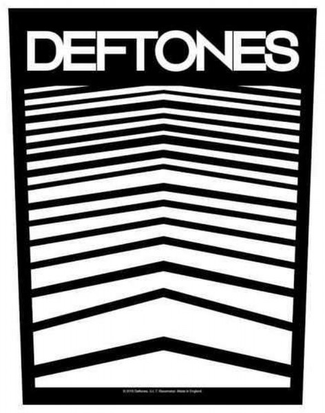 DEFTONES - Abstract Lines Backpatch Rückenaufnäher