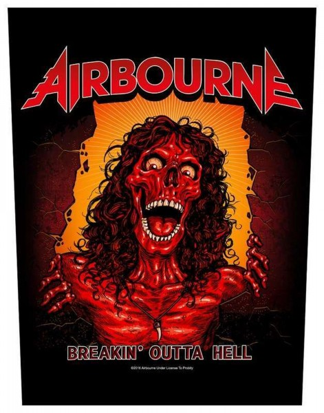 AIRBOURNE - Breakin´ outta hell Backpatch Rückenaufnäher