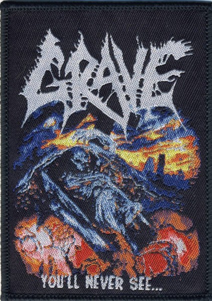 GRAVE - You´ll never see Patch Aufnäher