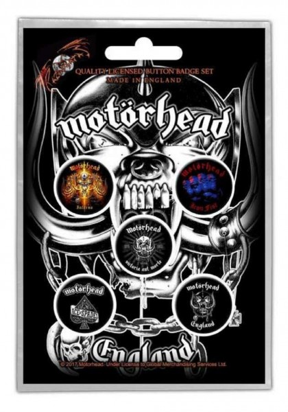MOTÖRHEAD - England Button-Set Badge Pack