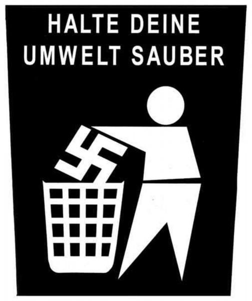GEGEN NAZIS - Umwelt Sauber Backpatch Rückenaufnäher