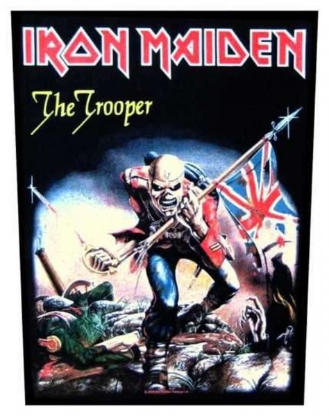 IRON MAIDEN - The Trooper Backpatch Rückenaufnäher