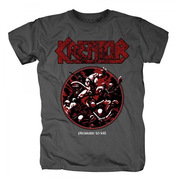 KREATOR - Pleasure To Kill Circle Grau T-Shirt