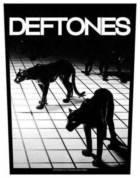 DEFTONES - Panther Backpatch Rückenaufnäher