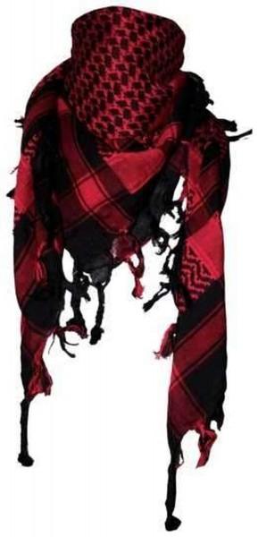 PLO Tuch Palästinensertuch - schwarz rot