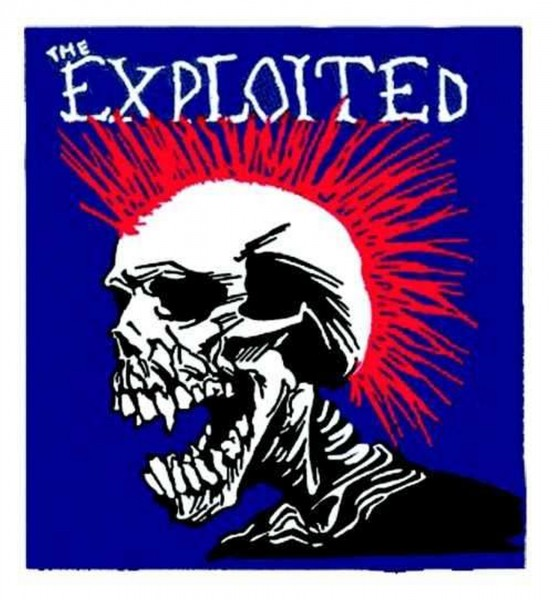 THE EXPLOITED - Mohican multicolour Patch Aufnäher