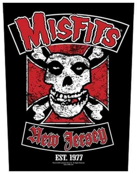 MISFITS - New Jersey Backpatch Rückenaufnäher