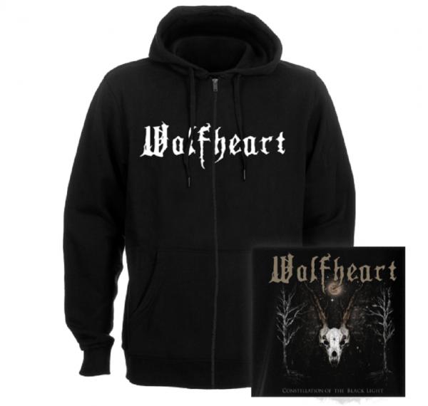 WOLFHEART - Logo Constellation of the black light Kapuzenjacke