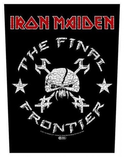 IRON MAIDEN - The Final Frontier Backpatch Rückenaufnäher