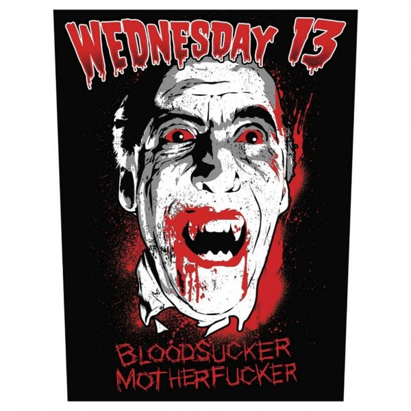 WEDNESDAY 13 - Bloodsucker Backpatch Rückenaufnäher