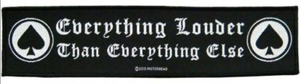 MOTÖRHEAD - Everything Louder Patch Aufnäher Superstrip