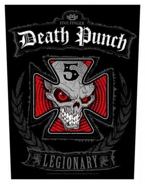 FIVE FINGER DEATH PUNCH - Legionary Backpatch Rückenaufnäher