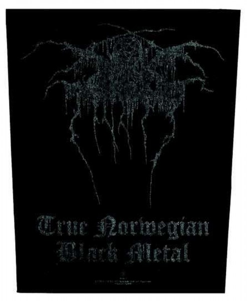DARKTHRONE - True norwegian Black Metal Backpatch Rückenaufnäher