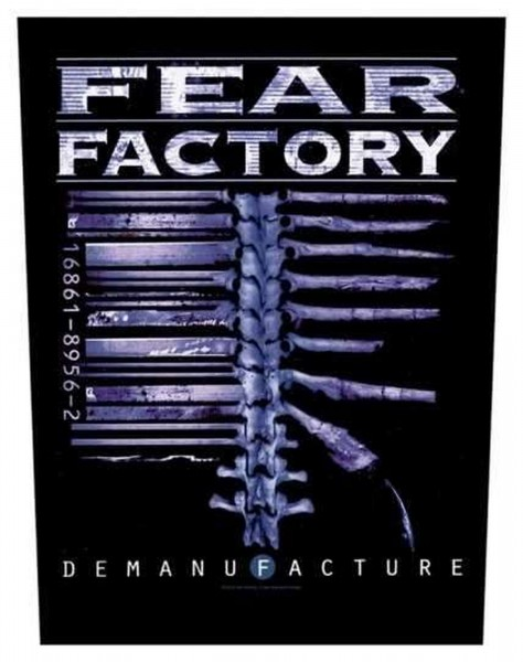 FEAR FACTORY - Demanufacture Backpatch Rückenaufnäher
