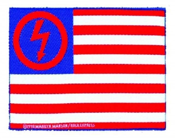 MARILYN MANSON - Flag Patch Aufnäher