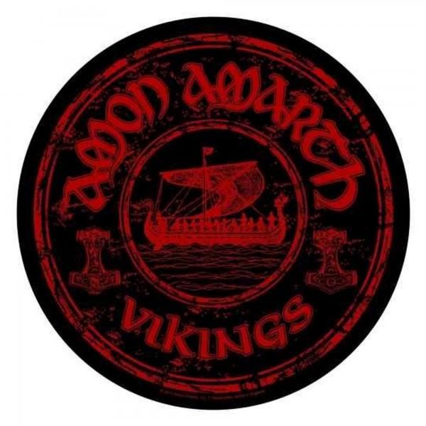 AMON AMARTH - Vikings rund Backpatch Rückenaufnäher