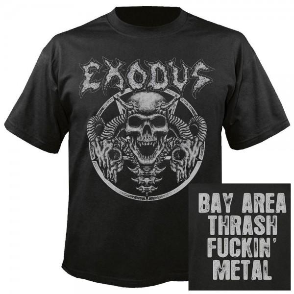 EXODUS - Horns skull T-Shirt