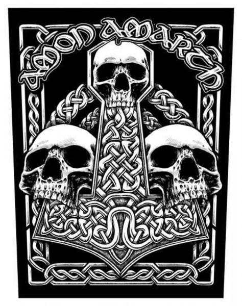 AMON AMARTH - Skulls Backpatch Rückenaufnäher