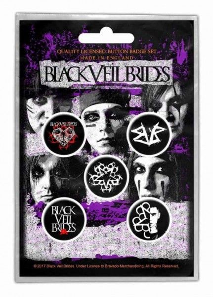 BLACK VEIL BRIDES - Pentagram Button-Set Badge Pack