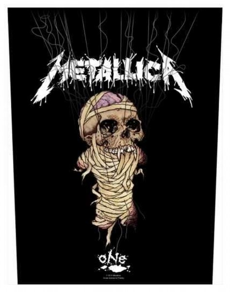 METALLICA - One Strings Backpatch Rückenaufnäher