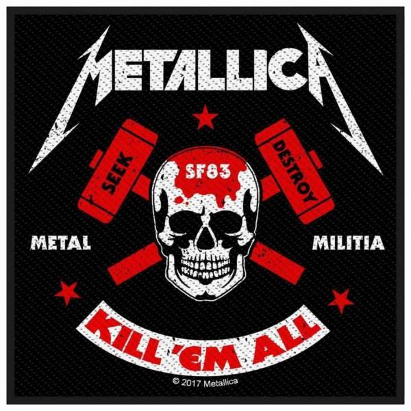METALLICA - Metal Milita Patch Aufnäher