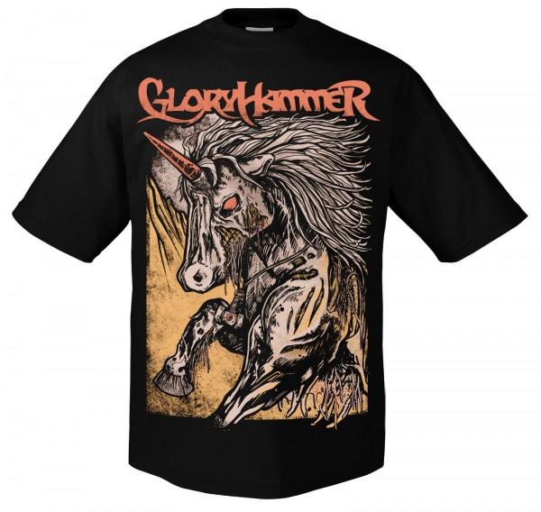 GLORYHAMMER - Zombie Unicorn T-Shirt
