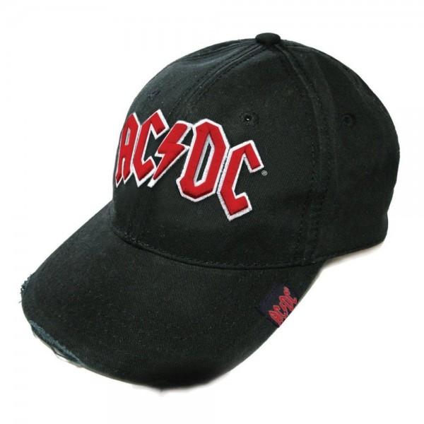 AC/DC - Red Logo Used Look Baseballcap