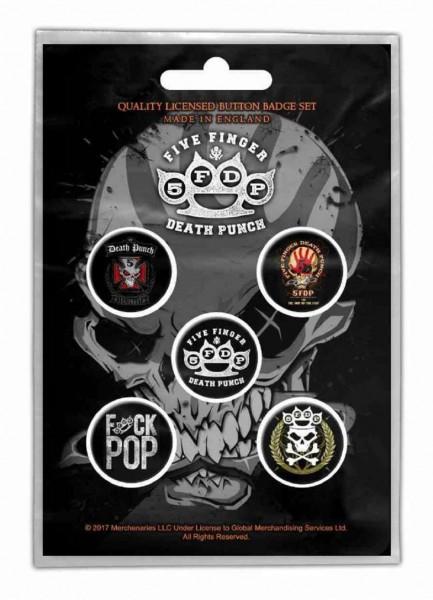FIVE FINGER DEATH PUNCH - Button-Set Badge Pack