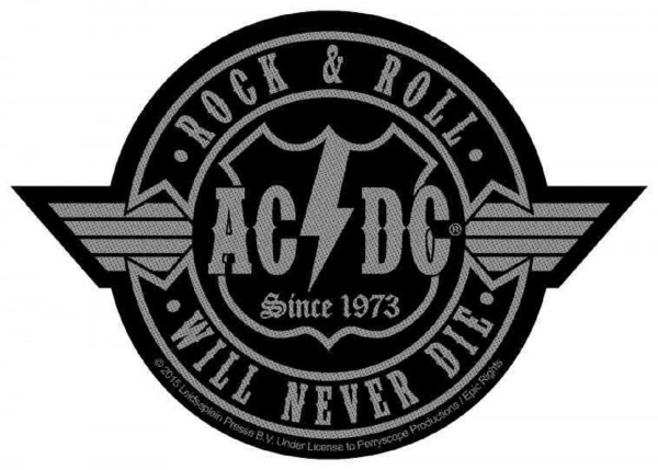 AC/DC - Rock & Roll Will Never Die cut Patch Aufnäher