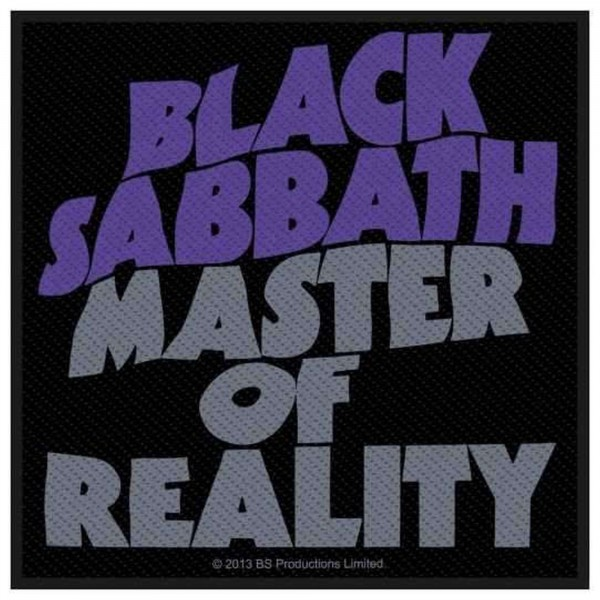 BLACK SABBATH - Master Of Reality Patch Aufnäher