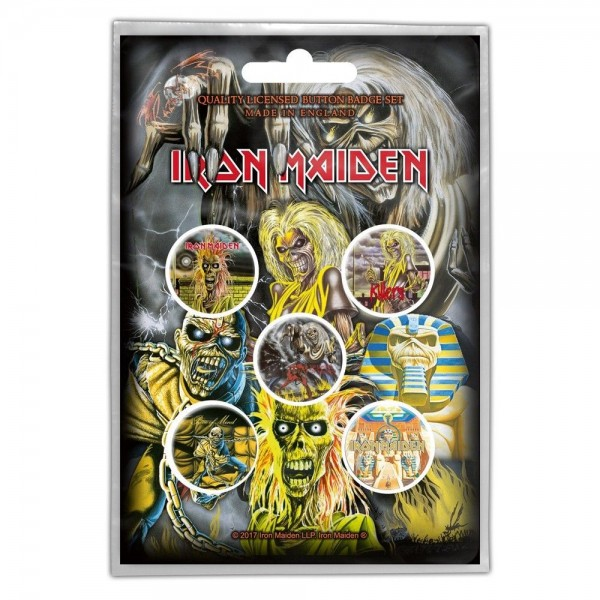 IRON MAIDEN - Early Albums Button-Set Badge Pack